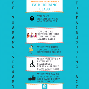 5 reasons you need a fair housing course - social media